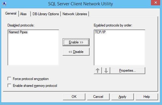 SQL Alias - Client network utility