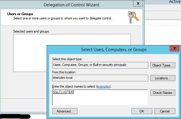 SQL Server AlwaysOn - Delegation