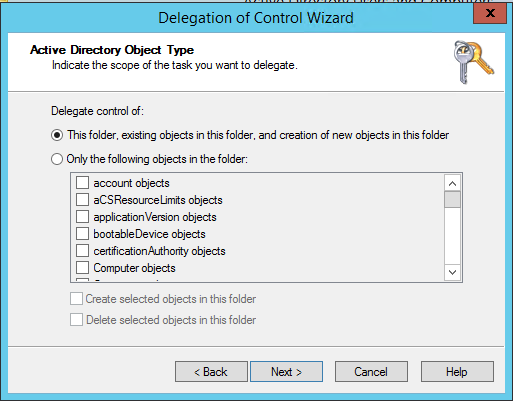 SQL Server AlwaysOn - delegation - this folder