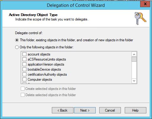 SQL Server AlwaysOn - delegation - this folder