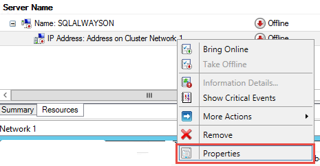 SQL Server AlwaysOn - Client access point properties
