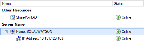 SQL Server AlwaysOn - confirmation that services are online