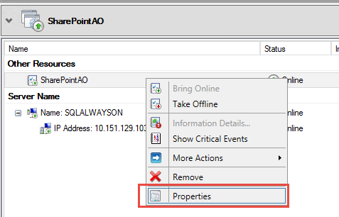 SQL Server AlwaysOn - role properties