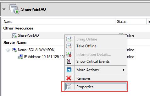 SQL Server AlwaysOn - role properties