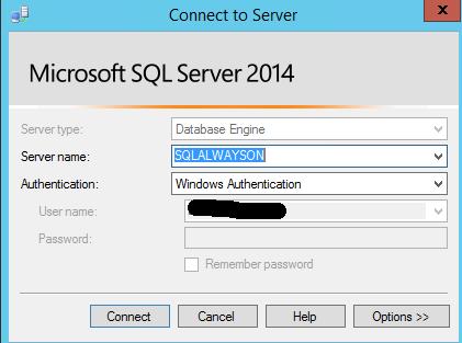 SQL Server AlwaysOn - Connect to listener