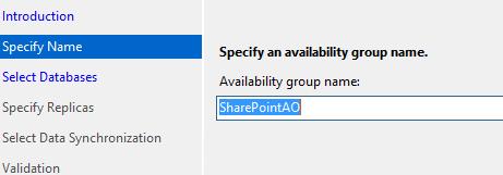 SQL Server AlwaysOn - Set group name