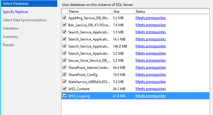 SQL Server AlwaysOn - Select databases