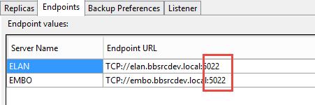 SQL Server AlwaysOn - Adding endpoints