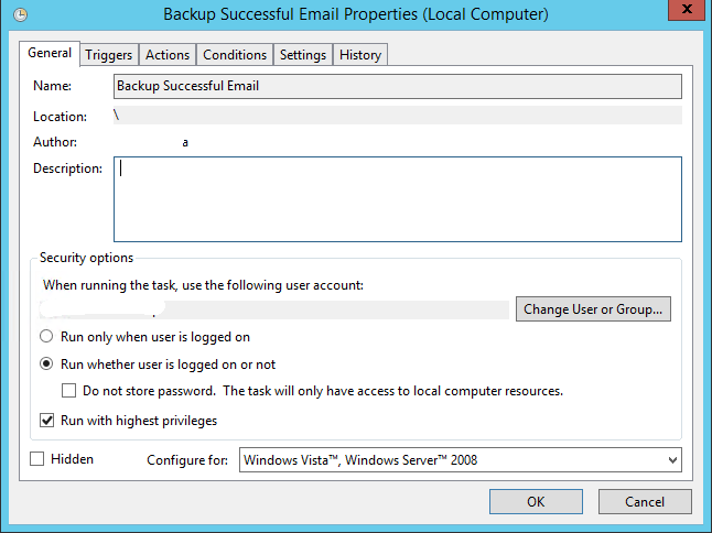 Azure backup notifications - Completed backup task