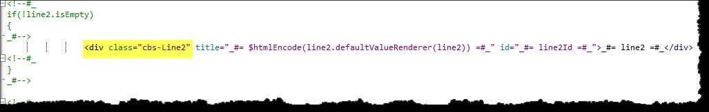 Display template modifying text wrap