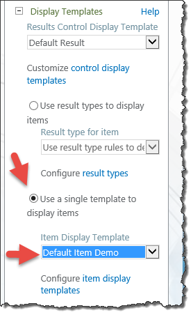 Change display template