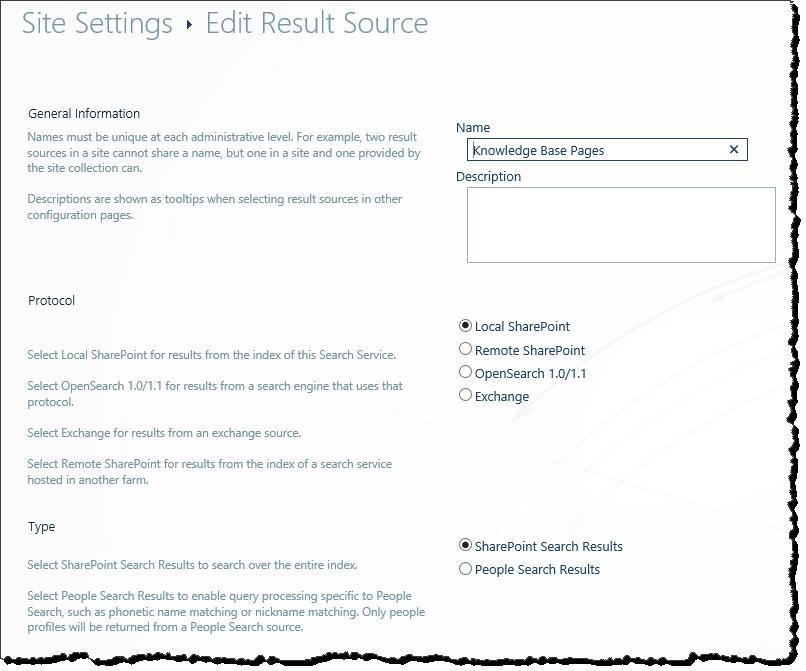 Edit result set source