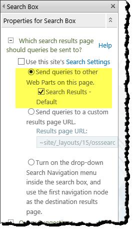CSWP customise search box