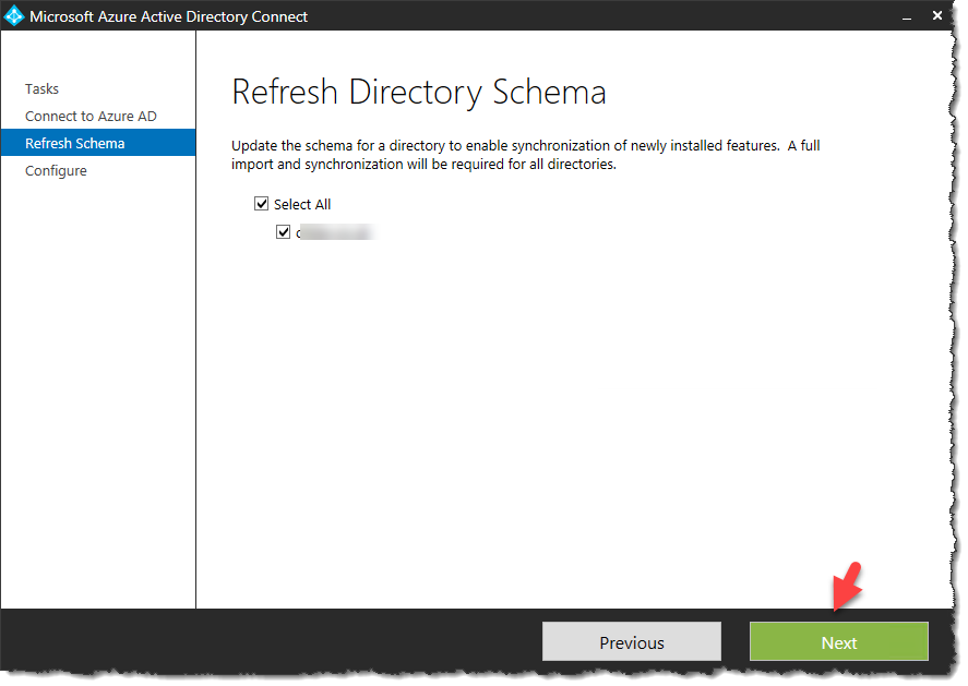 Azure AD Connect - Refresh the directory schema