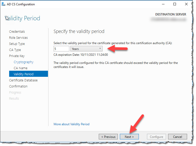Configure Active Directory Certificate Services