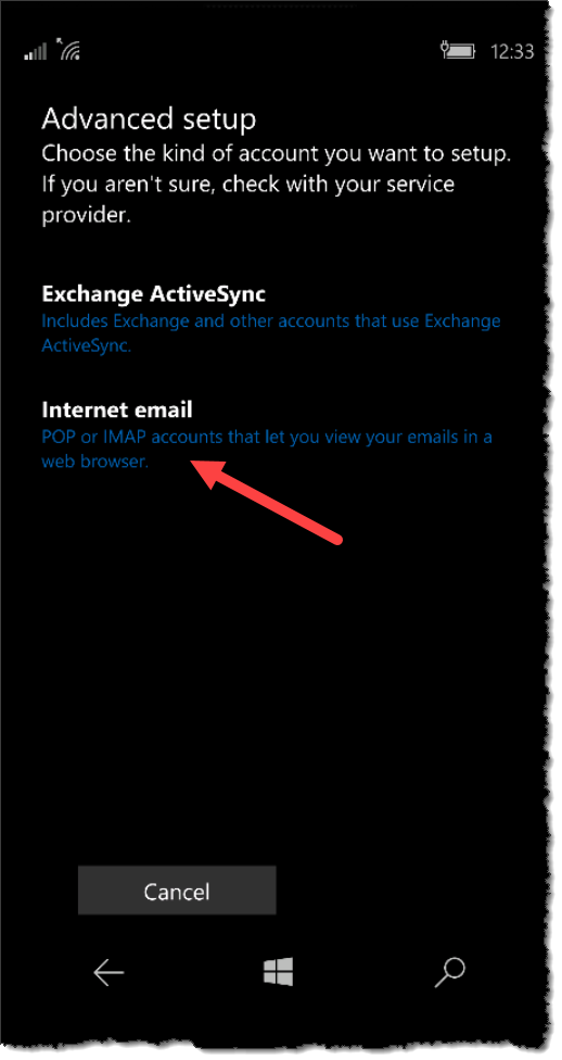 Windows 10 Mobile - Access Office 365 Shared Mailboxes