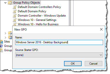 Windows Server 2016 - Changing the background with GPO