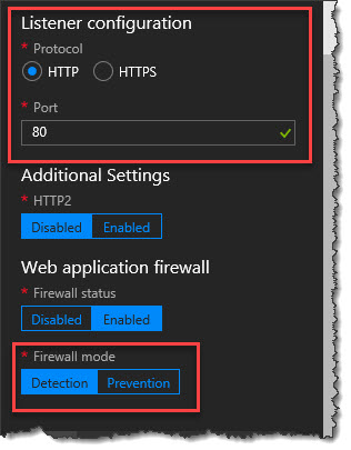 Create Azure Web Application Firewall